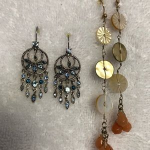 Sparkly Chico's earrings 2 pair